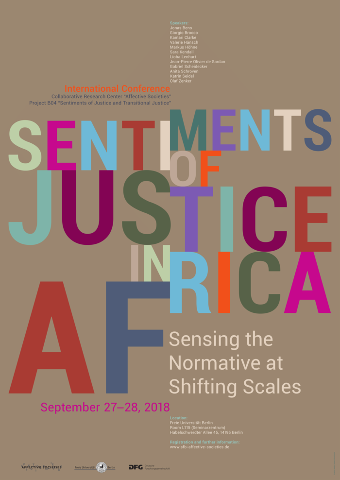 Tagungsposter: Sentiments of Justice in Africa