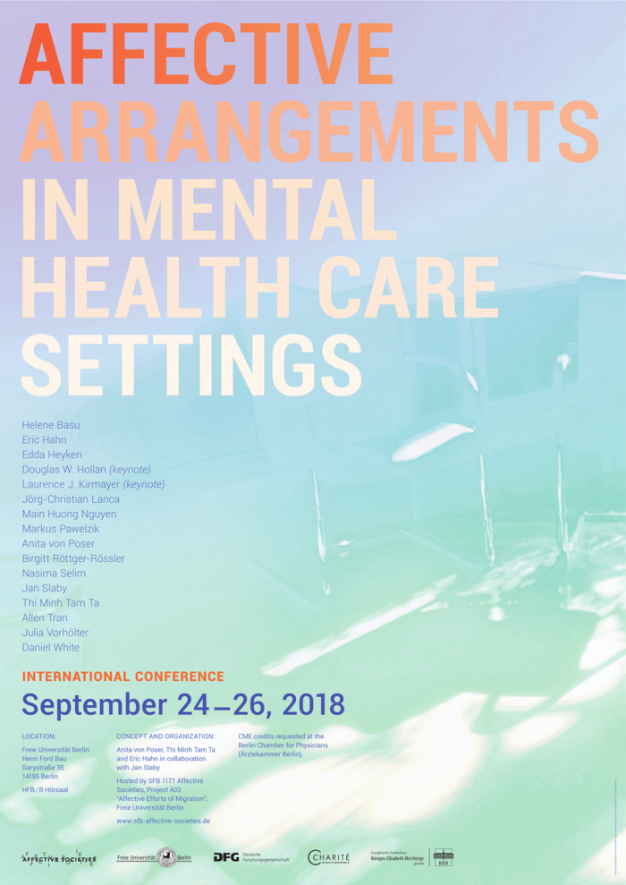 Tagungsposter: Affective Arrangements in Mental Health Care Settings