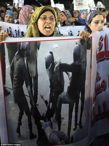 Demonstration in Cairo on December 20th, 2011.