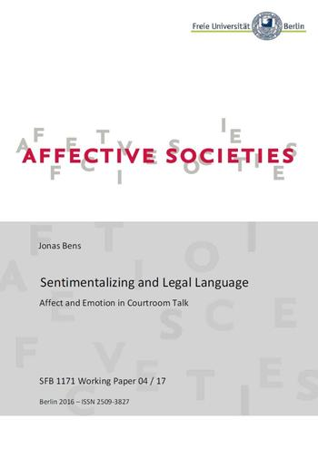 Sentimentalizing and Legal Language (Cover)