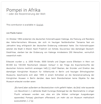 Pompei in Afrika (Cover)