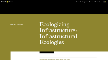 Ecologizing Infrastructure (Cover)
