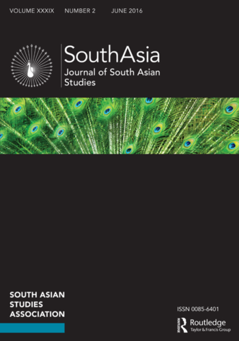 Journal of South Asian Studies (Cover)