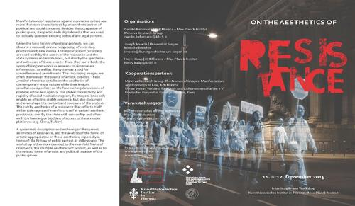 "Programmflyer ""On the Aesthetics of Resistance"""