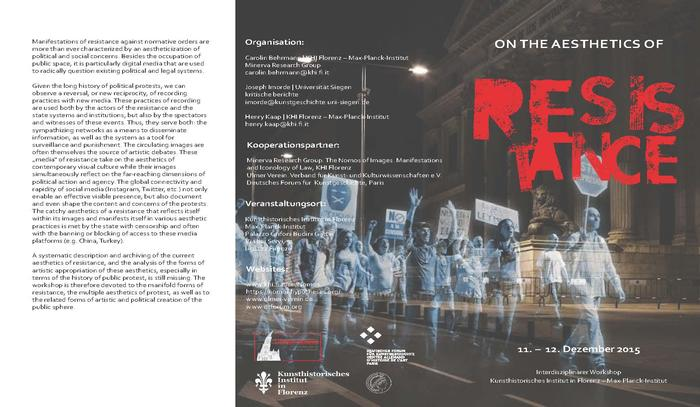 Flyer: On the Aesthetics of Resistance