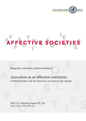 Journalism as an affective institution (Cover)