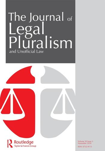 The Journal of Legal Pluralism and Unofficial Law (Cover)