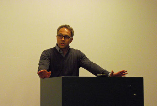 Adam Branch during his talk (image: Jonas Bens)