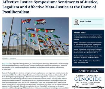 Affective Justice Symposium (Cover)