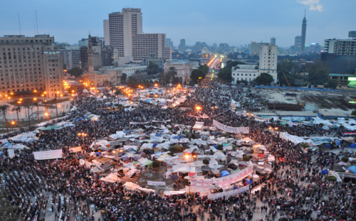 Tahrir Square on 9 February 2011