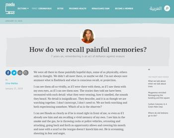 How Do We Recall Painful Memories? (Cover)