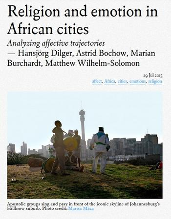 Religion and Emotion in African Cities (Cover)