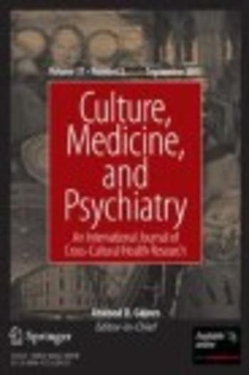 Culture, Medicine and Psychiatry (Cover)