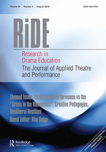 Research in Drama Education (Cover)